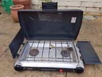 Coleman 2 burner Cooker and Gas Canisters