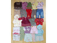 Large Bundle of Good Quality Baby Girl Clothes - 3-6 months