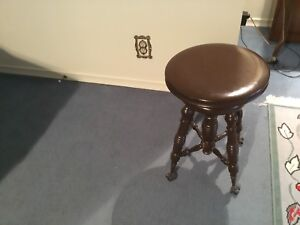 Piano stool antique vintage
