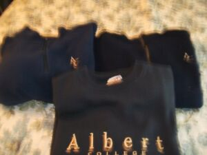 3 ALBERT COLLEGE NAVY PULLOVER SWEATERS