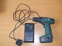 BOSCH cordless drill and charger. PSR 7.2VES
