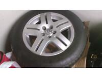 Mk4 vw 15inch 4 x alloys and tyres