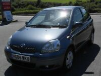 TOYOTA YARIS 1.0 VVTi COLOUR COLLECTION, 2005, 5 DOOR, 2 OWNERS, 52'000 MILES, TOYOTA FSH, NEW MOT