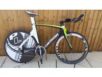 Merida Time Warp Team Carbon TimeTrial TT Triathlon Bike with Carbon Rear Disc,Dura Ace,Pro-lite