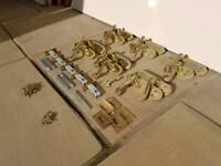 Brass / Gold Door Handle Set