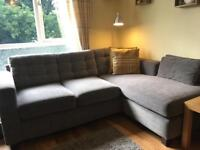 Grey corner sofa *two available*