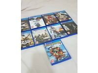 Bundle of 8 PS4 games