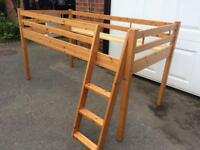 Pine Mid Sleeper Cabin Bed. Single