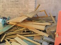 load of bone dry timber ideal for fire wood free come and get it