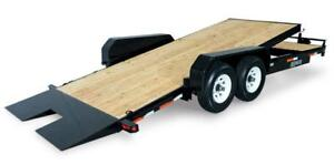 Tilt bed equipment trailer 18'+4' 14k