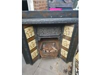 Early victorian cast iron fireplace