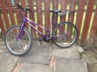 ladies universal mountain bike,19 ins frame,18 gears,26 ins alloy wheels nice tidy