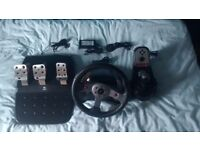 LOGITECH G25 WITH PEDALS AND SHIFTER!!