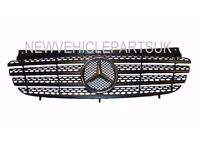 MERCEDES VITO W639 2003-2010 FRONT GRILLE CENTRE MAIN BLACK NEW INSURANCE APPROVED FREE DELIVERY