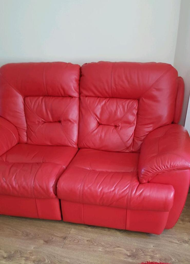 Dfs red sofas