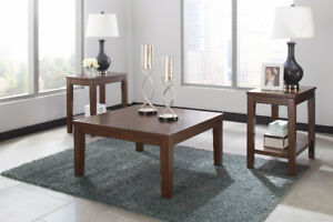 NEW 3 PIECE COFFEE TABLE SETS