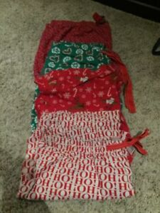 4 Pairs of XL christmas PJ bottoms