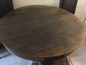45 inch oak round table