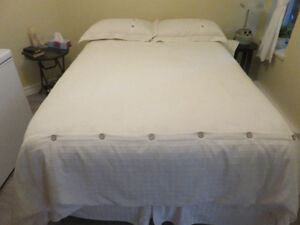 """54"""" mattress, boxspring and bed frame. In very good condition"""