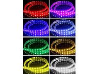 New 240V Plug&Play Heavy Duty Strip Light Rope Light Waterproof Single Colour RGB Colour Changing