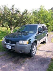 2001 Ford Escape XLT AS IS!