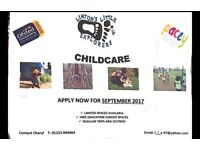 Childcare spaces available.