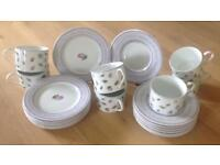 Set of 7 M&S Cups, Saucers & Plates