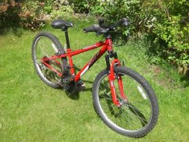 "Boys Apollo XC24 Front suspension Mountain bike, 24"" Alloy wheels. 12"" frame, 18 Shimano Gears"