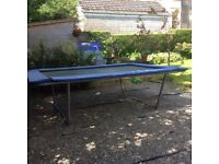 rectangular shaped trampoline. in good condition. size 312 x 225cm
