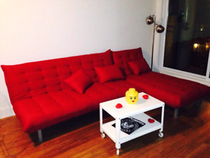 Structube Sectional sofabed sofa couch couches futon lit