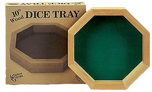 Wooden Dice Tray - Board Games