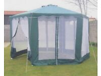 Garden Gazebo - 3m Hexagonal with Mesh sides - used only twice - Great Condition! - Comes in Bag