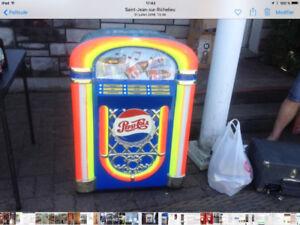 Jukebox cooler pepsi cola