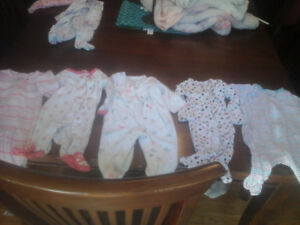 Size new born baby girl clothes