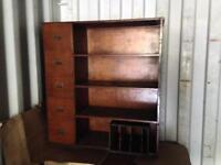 Vintage Wooden cabinet &pigeon holes