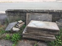Free to collect paving slabs and hardcore