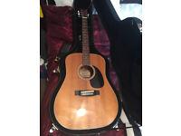 bm Rodeo acoustic guitar MIJ in hard case.