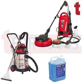 Sealey VMA915 Wet/Dry 30 Litre Vacuum + PW1600 110bar pressure washer + 5 Litre Detergent