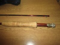 Penn Gold Medal Fly Rod 9ft 6inch line 7 Reels and Fly lines Plus Net