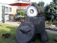 Black garden compost bin