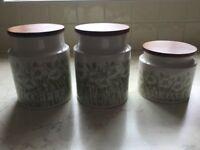 Hornsea Fleur 1970's jar set