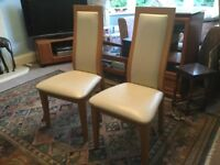 Pair of Good Quality Dining Room Chairs Excellent condition