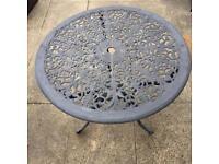 Cast aluminium bistro Garden outdoor table