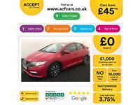 HONDA CIVIC 1.4 1.6 1.8 2.2 I-VTEC ES-T SI TI SE PLUS SPORT SR FROM £45 PER WEEK