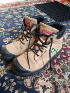 Size 8.5 steel-toed women's work boots
