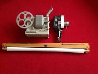 Vintage Cine camera, projector and screen
