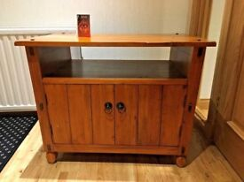 Handmade solid wood furniture package set. Dining table 4 chairs, tv dvd storage unit, magazine rack