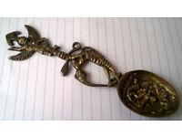 vintage indian brass spoon