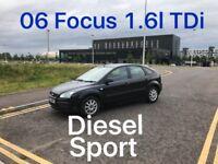 DIESEL £1275 2006 Ford Focus TDi 1.6l* like ASTRA MEGANE CIVIC GOLF MONDEO VECTRA PASSAT