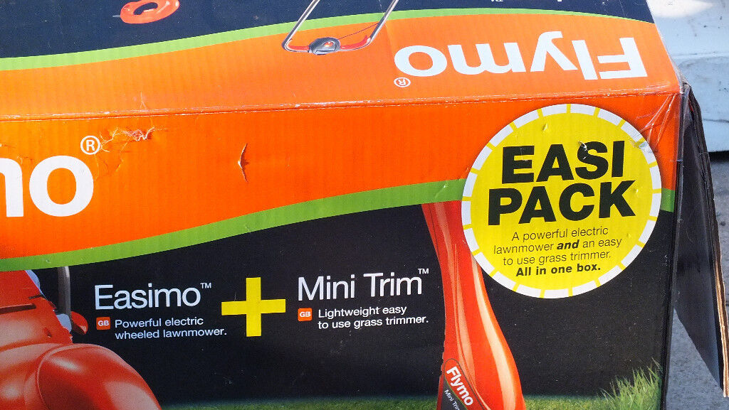 unused Flymo Easimo with used Mini Trimmerin Norwich, NorfolkGumtree - unused electric corded Flymo Easimo Lawnmower with grassbox and electric corded Flymo Mini Trimmer[used a few times].Not wanted now,as moving house. £85 o.n.o